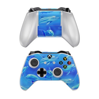 Microsoft Xbox One Controller Skin - Swimming Dolphins