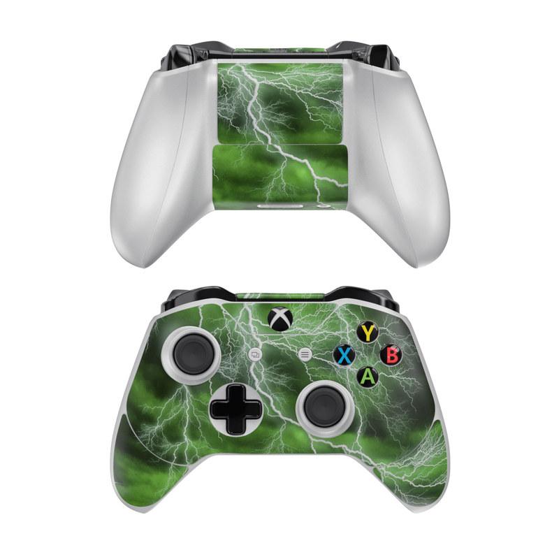 microsoft xbox one controller skin apocalypse green by