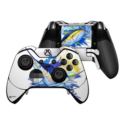 Microsoft Xbox One Elite Controller Skin - Blue White and Yellow
