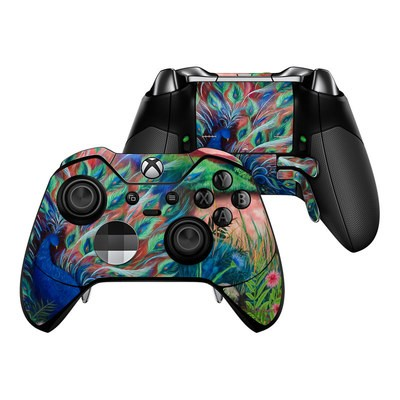 Microsoft Xbox One Elite Controller Skin - Coral Peacock