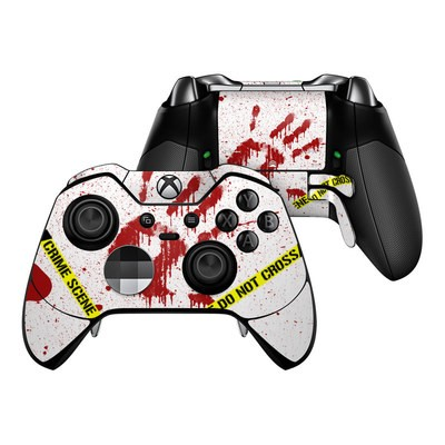 Microsoft Xbox One Elite Controller Skin - Crime Scene Revisited