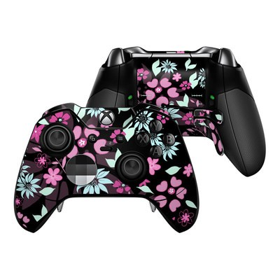 Microsoft Xbox One Elite Controller Skin - Dark Flowers