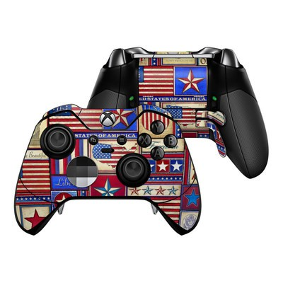 Microsoft Xbox One Elite Controller Skin - Flag Patchwork