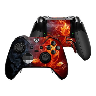 Microsoft Xbox One Elite Controller Skin - Flower Of Fire