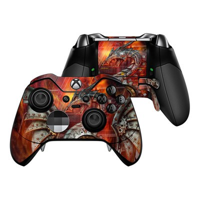 Microsoft Xbox One Elite Controller Skin - Furnace Dragon