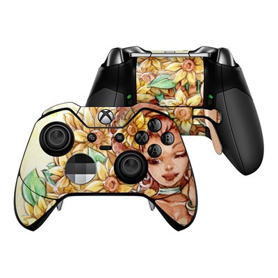 Microsoft Xbox One Elite Controller Skin - Lady Sunflower
