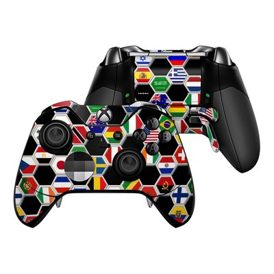 Microsoft Xbox One Elite Controller Skin - Soccer Flags