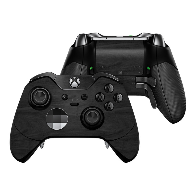Microsoft Xbox One Elite Controller Skin - Black Woodgrain by DecalGirl  Collective