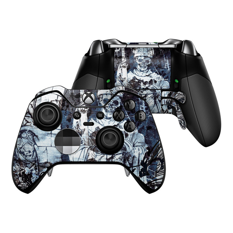 Microsoft Xbox One Elite Controller Skin - Black Mass