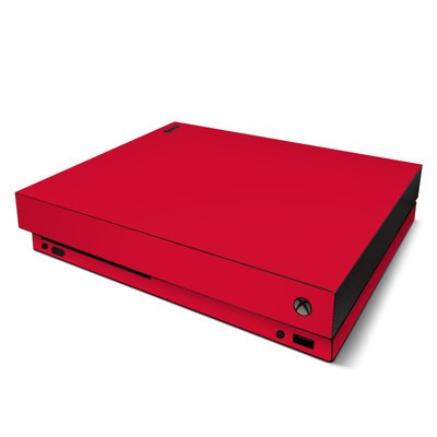 Microsoft Xbox One X Skin - Solid State Red