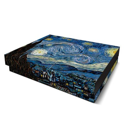 Microsoft Xbox One X Skin - Starry Night