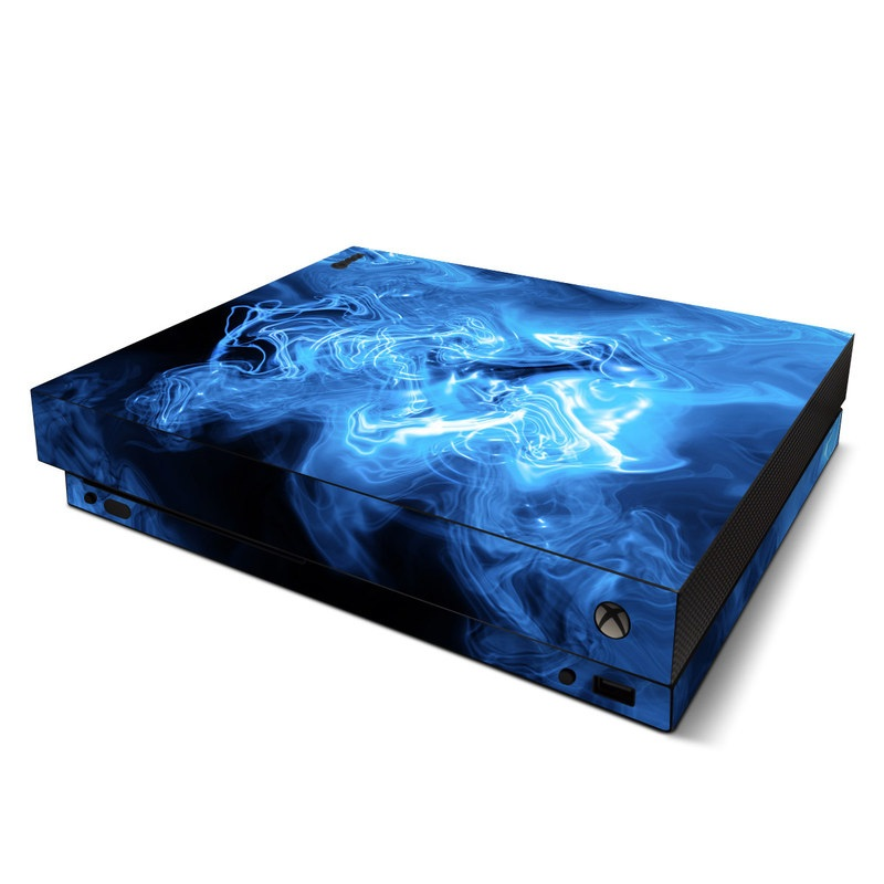 Automotive Paint Colors >> Microsoft Xbox One X Skin - Blue Quantum Waves by Gaming | DecalGirl