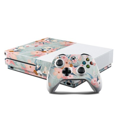 Microsoft Xbox One S Console and Controller Kit Skin - Ada Garden