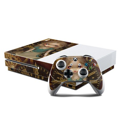 Microsoft Xbox One S Console and Controller Kit Skin - Alice Clockwork