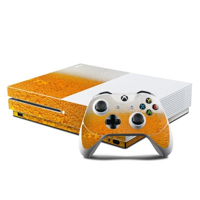 Microsoft Xbox One S Console and Controller Kit Skin - Beer Bubbles