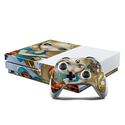 Microsoft Xbox One S Console and Controller Kit Skin - Alice in a Dali Dream