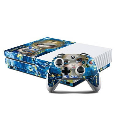 Microsoft Xbox One S Console and Controller Kit Skin - Alice in a Van Gogh