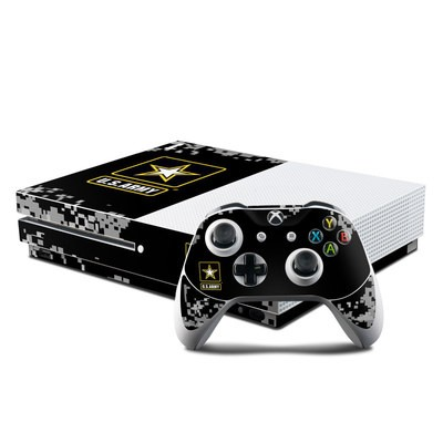 Microsoft Xbox One S Console and Controller Kit Skin - Army Pride