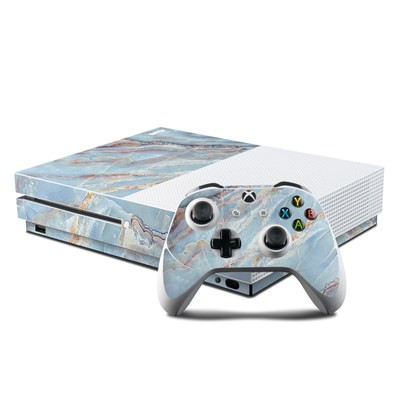 Microsoft Xbox One S Console and Controller Kit Skin - Atlantic Marble