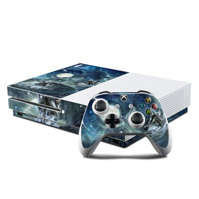 Microsoft Xbox One S Console and Controller Kit Skin - Bark At The Moon