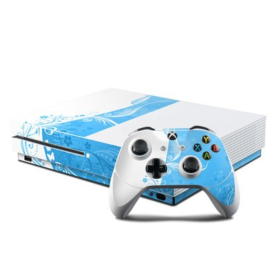 Microsoft Xbox One S Console and Controller Kit Skin - Blue Crush