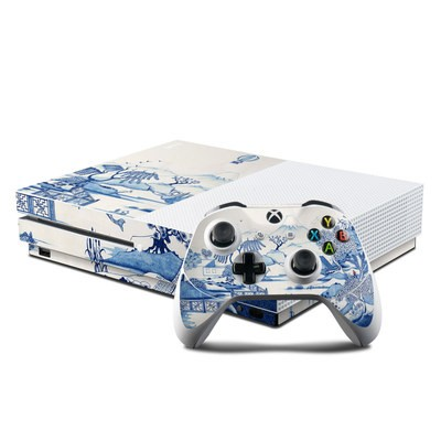 Microsoft Xbox One S Console and Controller Kit Skin - Blue Willow