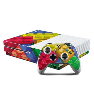 Microsoft Xbox One S Console and Controller Kit Skin - Bricks