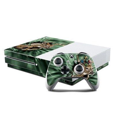 Microsoft Xbox One S Console and Controller Kit Skin - Break Through Deer