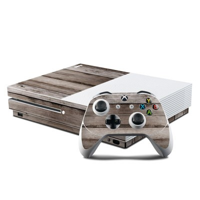 Microsoft Xbox One S Console and Controller Kit Skin - Barn Wood