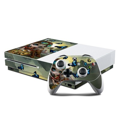 Microsoft Xbox One S Console and Controller Kit Skin - Clockwork Dragonling