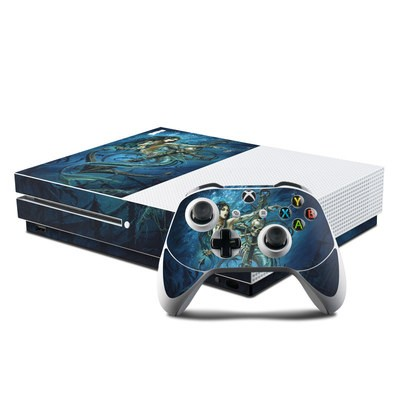 Microsoft Xbox One S Console and Controller Kit Skin - Death Tide