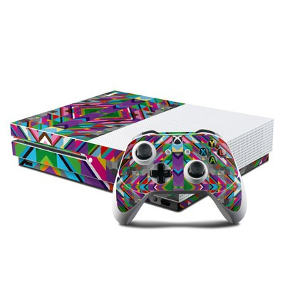 Microsoft Xbox One S Console and Controller Kit Skin - Derailed