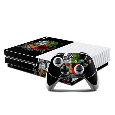 Microsoft Xbox One S Console and Controller Kit Skin - Devils Herald