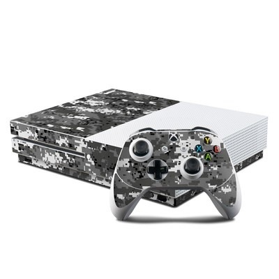 Microsoft Xbox One S Console and Controller Kit Skin - Digital Urban Camo