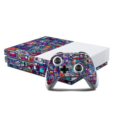 Microsoft Xbox One S Console and Controller Kit Skin - Distraction Tactic
