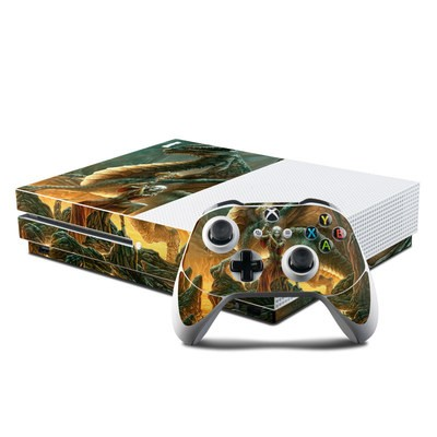 Microsoft Xbox One S Console and Controller Kit Skin - Dragon Mage