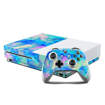Microsoft Xbox One S Console and Controller Kit Skin - Electrify Ice Blue