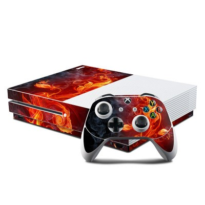 Microsoft Xbox One S Console and Controller Kit Skin - Flower Of Fire