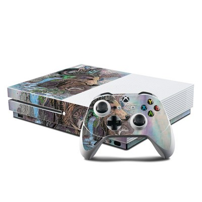 Microsoft Xbox One S Console and Controller Kit Skin - Forest Warden