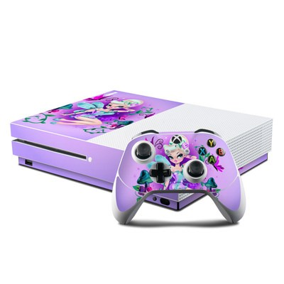 Microsoft Xbox One S Console and Controller Kit Skin - Garden Fairy