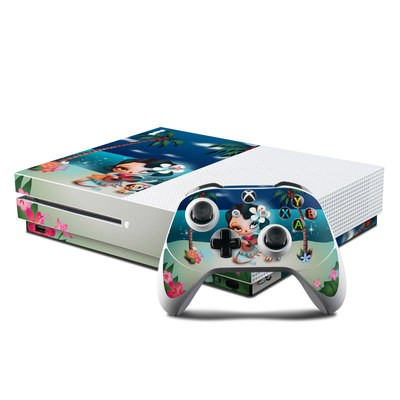 Microsoft Xbox One S Console and Controller Kit Skin - Hula Night
