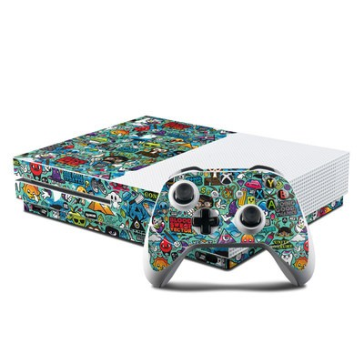 Microsoft Xbox One S Console and Controller Kit Skin - Jewel Thief