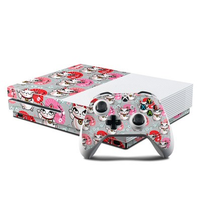 Microsoft Xbox One S Console and Controller Kit Skin - Kyoto Kitty