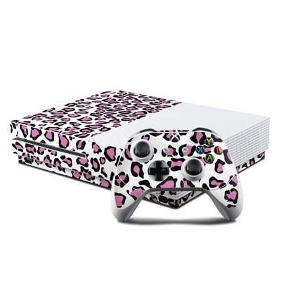 Microsoft Xbox One S Console and Controller Kit Skin - Leopard Love