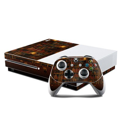 Microsoft Xbox One S Console and Controller Kit Skin - Library