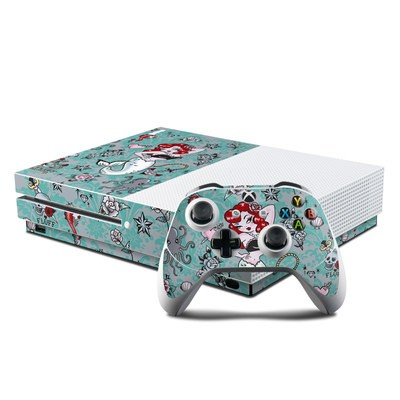 Microsoft Xbox One S Console and Controller Kit Skin - Molly Mermaid