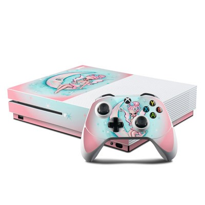 Microsoft Xbox One S Console and Controller Kit Skin - Moon Pixie