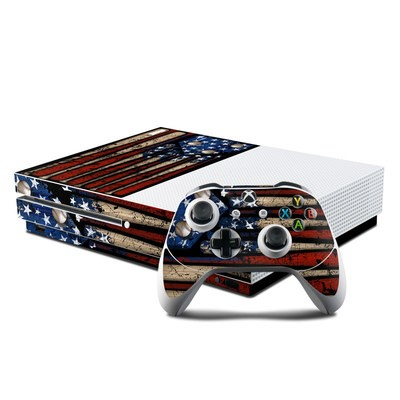 Microsoft Xbox One S Console and Controller Kit Skin - Old Glory