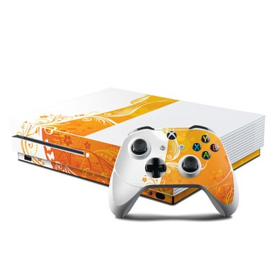Microsoft Xbox One S Console and Controller Kit Skin - Orange Crush
