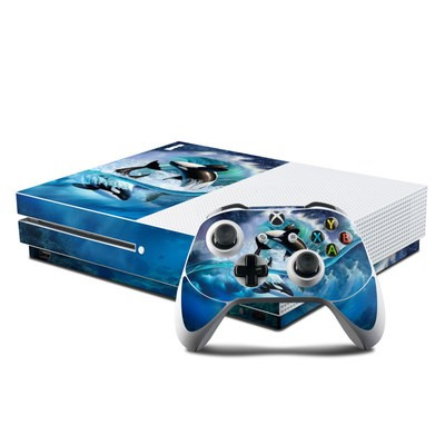 Microsoft Xbox One S Console and Controller Kit Skin - Orca Wave
